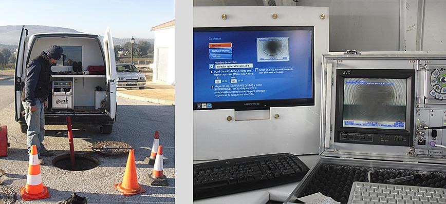 Cámara Robotizada tipo Rovver con conexión a oficina de inspección