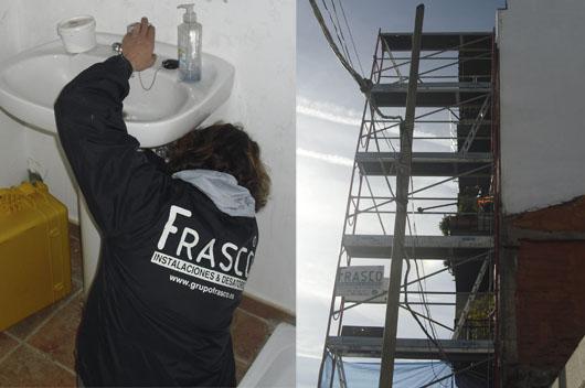Servicios de Fontanería en General de FRASCO, Instalaciones y Desatoros